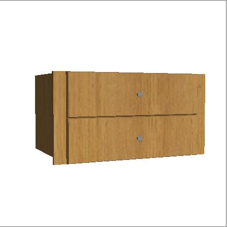 Two Drawer wardrobe drawer pack oak