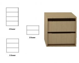 wardrobe internal drawer pack..